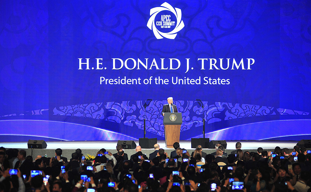 APEC 2017 회의 21명의 지도자가 참석
