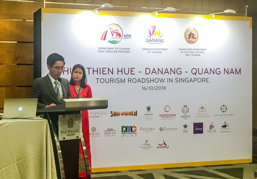 "Tourism Leaders and delegates attend ""Hue, Danang, Quang Nam Tourism Products Introduction to Singapore"""
