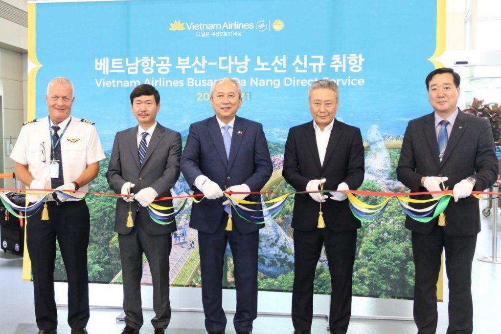 Vietnam Airlines khai trương đường bay Busan – Đà Nẵng