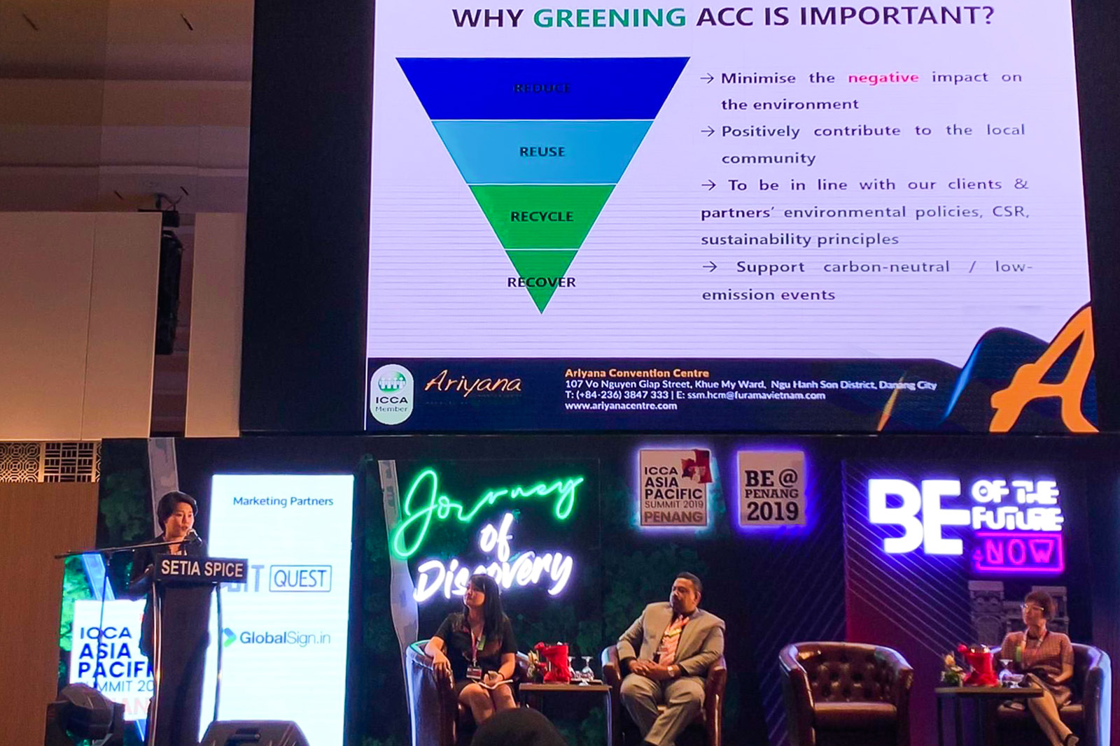 Ariyana Convention Centre Manager Speaks At The Inaugural Icca Asia Pacific Summit 2019
